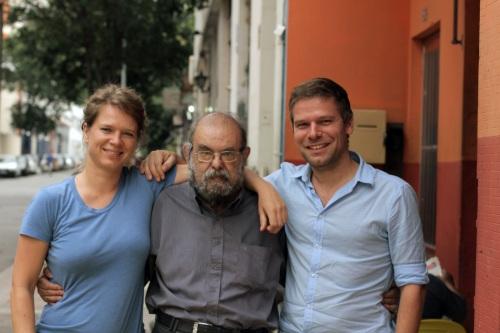 Maaike Gouwenberg en Joris Lindhout en Jose Mojica Marins
